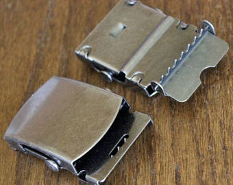 Buckle Military Style Buckle 2 Inch Antique Bronze High Quality Belt Buckle End Tip Included