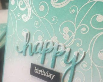 Handmade Card, Stamped Card, Birthday Card, All Occasion Card, Thanks Card, Friendship Card, Masculine Card