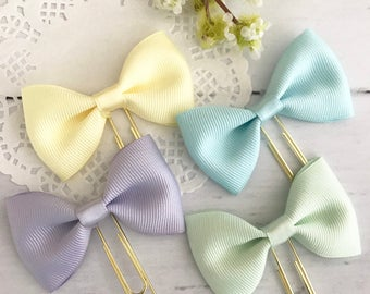 Petite Pastel Bow Paperclip Plannerclip