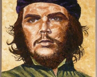 Picture Che Guevara / painting Che Guevara / painting of Cuba / Cuban Revolution / Cuban politician / painting famous character.