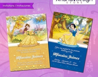 Disney Princess Printable Invitations