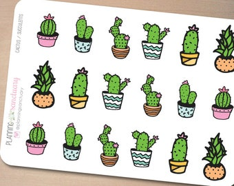 Cactus || Succulents Planner Stickers perferct for Erin Condren, Kikki K, Filofax and all other Planners