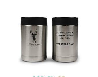 Groomsman Gift   Set of 2   Gift for Groomsman   Gift Idea for Groomsmen   Better Yeti   Can Cooler   Beverage Cooler   Beverage Insulator