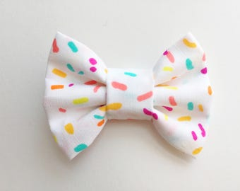 MINI Sprinkles Bow, baby headband, baby girl, girl toddler, headband, hair bow, baby gift