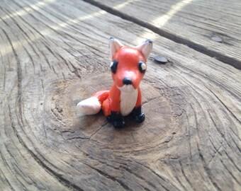 Handmade Polymer Fox Figure