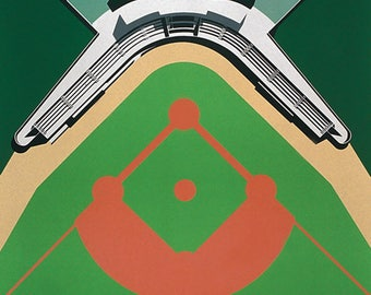 Barcelona 92 Poster - Inauguration of Works Olympic Ring - Municipal Field of Baseball