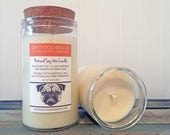 Pet Candle / Citrus Odor Eliminator / Soy Candle / Scented Candles / Dog Themed Gift / Gift for Dog Lover / Dog Candle / Gift for Her / Soy