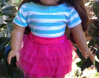 American Girl 18 inch doll outfit with shoes,full hand made doll outfit,