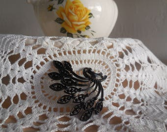 Vintage black brooch