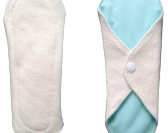 Pad washable Mint organic fleece