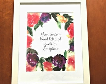 Custom Quote on Bold Floral Background