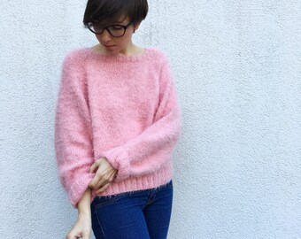 Light Spring Sweater , Hand Knitted