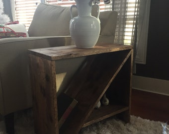"Side Table, Night Stand ""Rustic"""