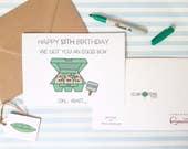 Eggs Box Card - Custom Wording - Happy 13th Birthday