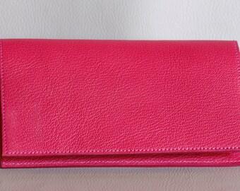 door checkbook leather pink