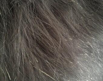 Sparkle Grey Fur Fabric
