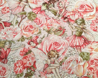 Blush Pink Rose FAIRIES Pillowcase