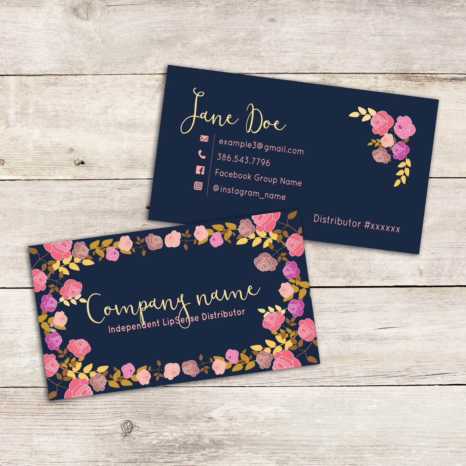 CUSTOM LipSense Business Card INSTANT DOWNLOAD