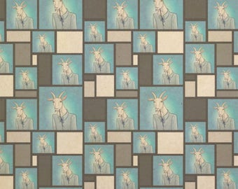 Portrait Of A Goat Kraft Present Gift Wrap Wrapping Paper