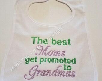 Moms Grandmas Bibs,Baby Bibs,Bibs with sayings,Bibs customized,Personalized Bibs,Plastic Bibs,Children Bibs,Bib for Child,Embroidered Bibs