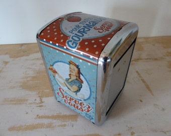Napkin Dispenser, Bistro Cafe Napkin Holder, Vintage Tableware, French Restaurant
