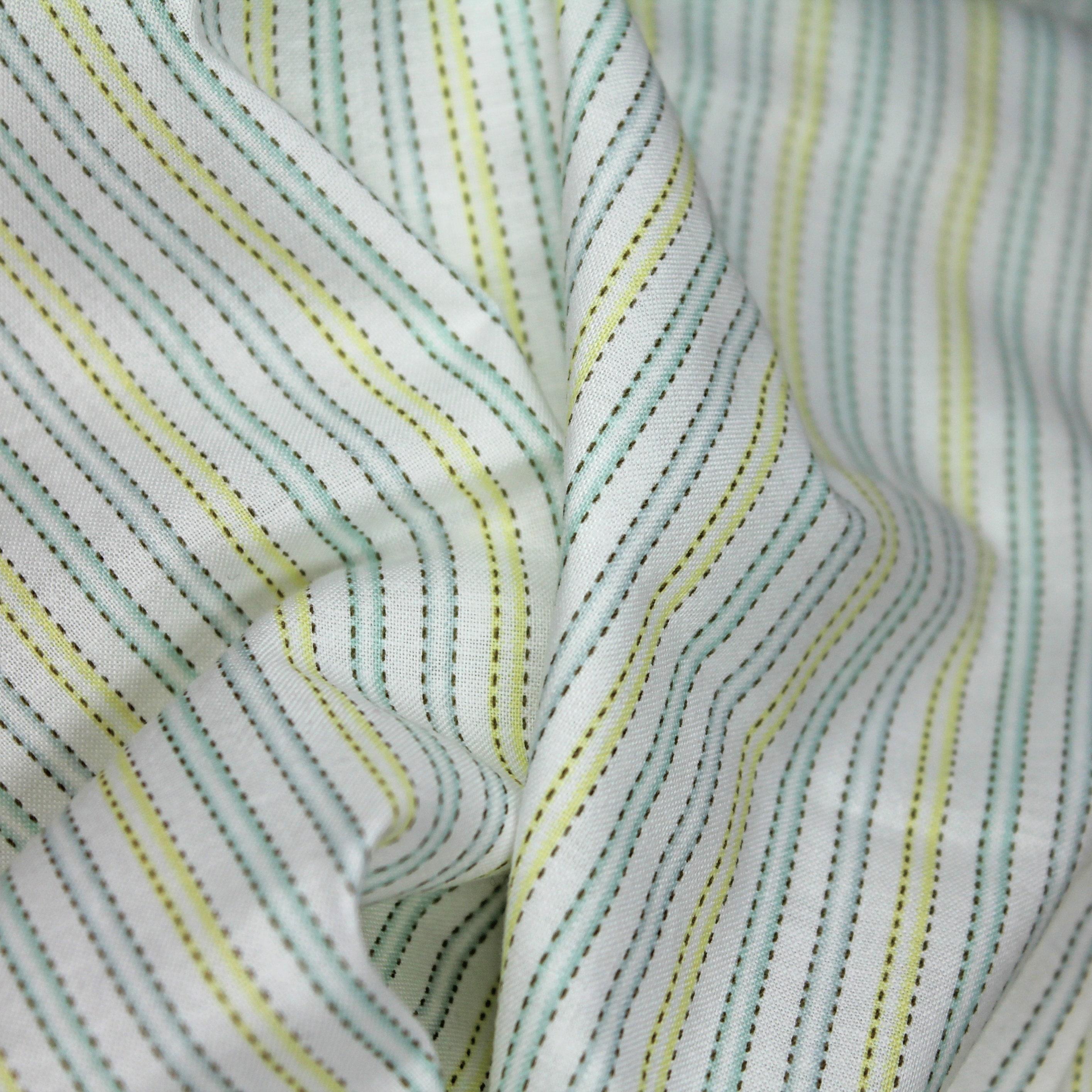Stripe cotton fabric baby fabric nursery fabric yellow for Baby nursery fabric yard