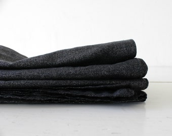 Napkin set of 4. Metallic napkins, linen and Cotton, black with silver shine.Hostess gift. wedding Table.Picnic day.Table decor.Party table.