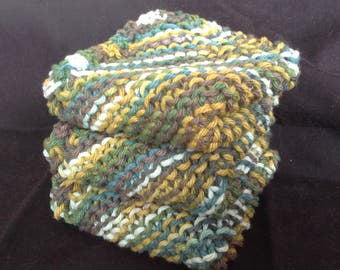 Knitted Dishcloths Set of 3 - Meadow