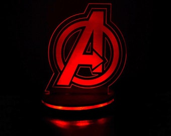 Marvel Avengers night light for desks, bars, man caves, night stands, and more