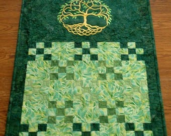 Celtic Tree of Life Quilted Table Runner