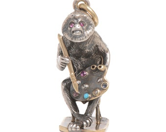 Monkey on a Chair Pendant / Charm