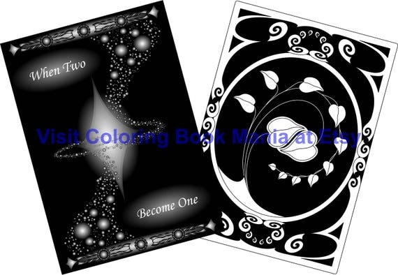 Celebrate LOVE with magnificent Cards! Swirling Universe x2 and Entwined Hearts x2 with dramatic black backgrounds - 4 Cards/envelopes