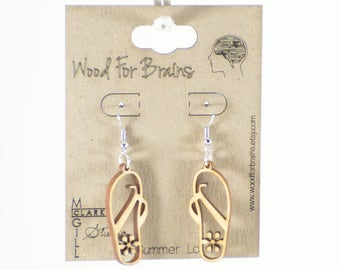 "Laser Cut Wooden Earrings - ""Summer Lovin"""