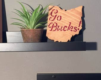 Go Bucks, Ohio State Decor and Wall Anchor!  QUICK FREE SHIPPING