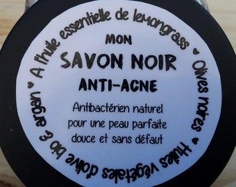 My SOAP black anti-acne, olive and argan oil bio