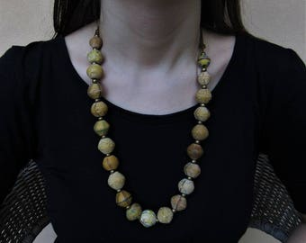 Venetian murrine beads necklace