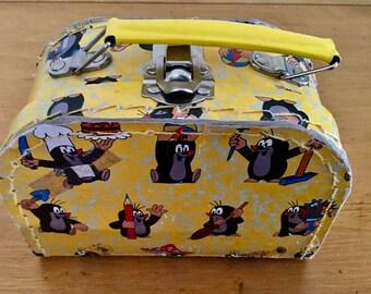 Adorable  Miniature Czech Little Mole Cartoon Toy Cardboard Travel Case