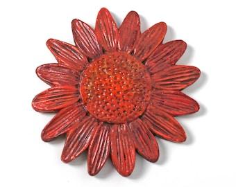 Vintage Chalkware Flower