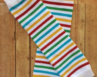 Stripe Colors Leg Warmers, Baby Leg Warmers, Infant Leg Warmers, Baby Girl Leg Warmers, Legwarmers, Infant Leg Warmers, Crawlers, Photo Prop