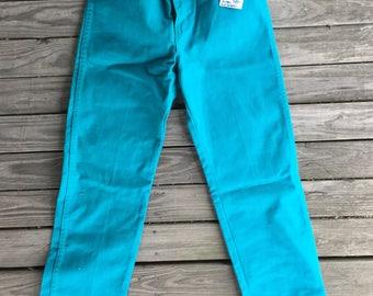 "27"" wrangler turquoise jean"