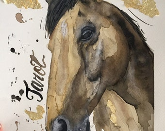 Custom Equine Portrait - Hand Painted Custom A4 Watercolour - % of sales donated to 'Save a Horse Australia'