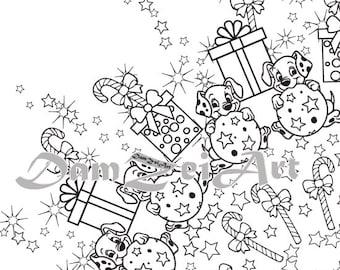 mandala new year digital coloring page happy holidays adult coloring coloring sheet
