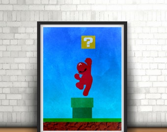 Super Mario Inspired Minimalist Art Print Super Nintendo Classics