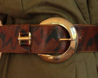 Beautiful leather belt