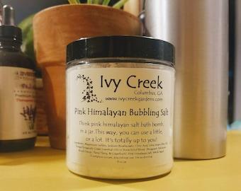 Pink Himalayan Bubbling Bath Salt, Stress Relief, Bath and Body, Spa.