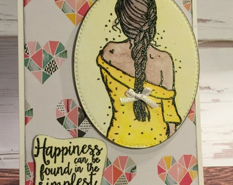 Handcrafted Greeting Card - Happiness (PAT-0028)