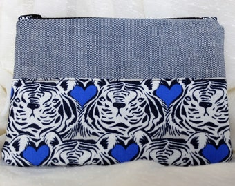 Tiger Love Denim Coin Purse