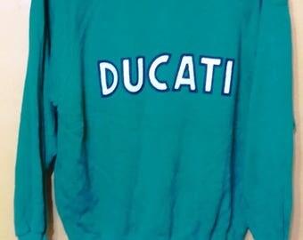 Vintage 90's DUCATI sweatshirt large size