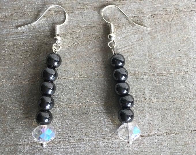 Sparkly magnetic hematite earrings