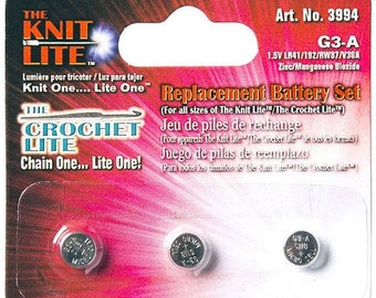 Crochet Lite Replacement Batteries 3/Pkg